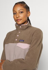 Patagonia - SYNCH SNAP - Fleece jumper - furry taupe - 4