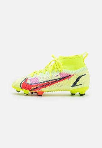 MERCURIAL JR 8 PRO FG UNISEX - Fotbollsskor fasta dobbar - volt/bright crimson/black