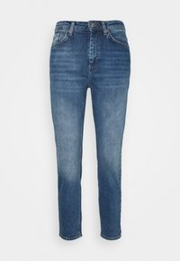 ONLVENEDA LIFE MOM - Džíny Straight Fit - dark blue denim