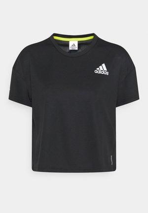 P.BLUE TEE - T-shirt z nadrukiem - black
