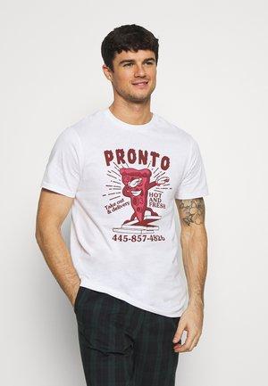ONSJEFFREY LIFE TEE - T-shirt con stampa - white