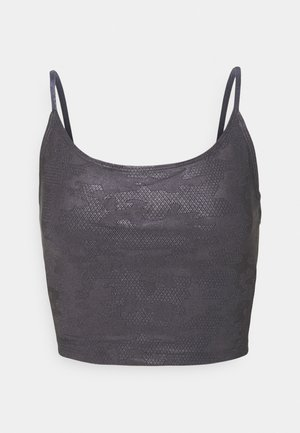 BELLE CAMI CROP - Top - carbon