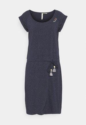 GLITTER - Jersey dress - navy