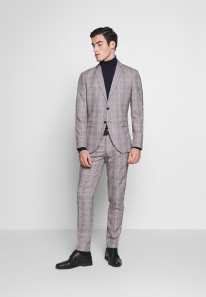 SLHSLIM MYLOKIPA CHECK SUIT - Garnitur - brownie/blue