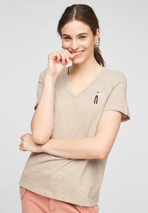 Print T-shirt - desert sand stripes
