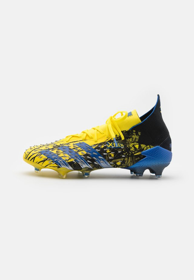 PREDATOR FREAK .1 FG - Moulded stud football boots - yellow/blue/core black