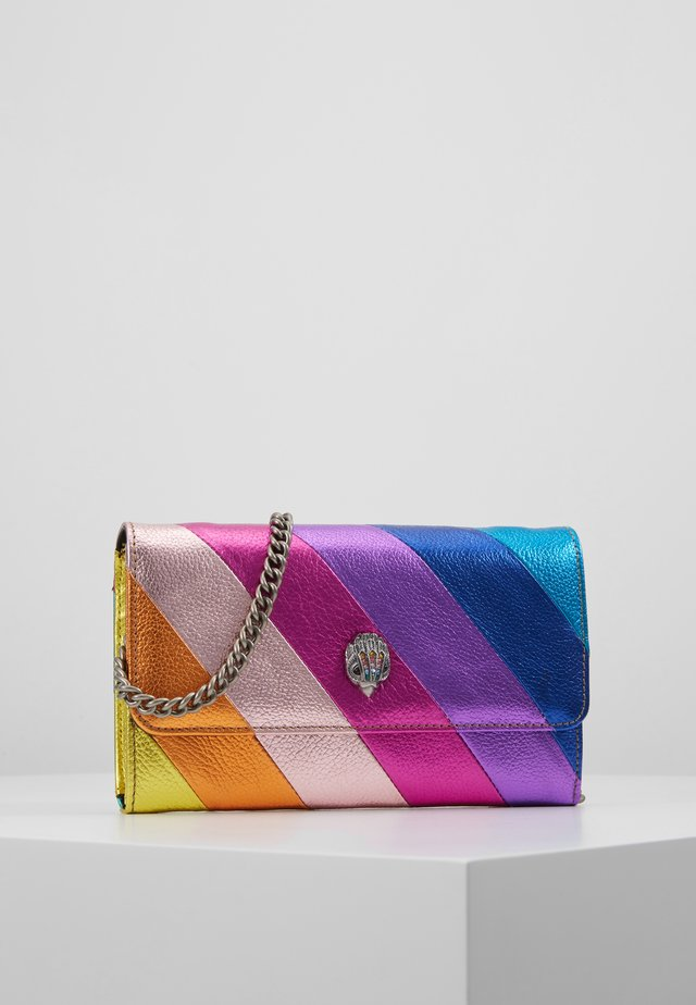 STRIPE CHAIN WALLET - Across body bag - multi-coloured