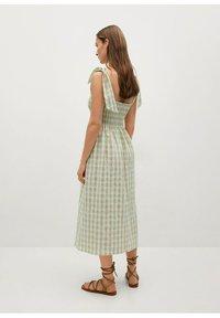 Mango - MED VICHY-RUTER - Day dress - havgrønn - 1