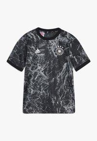 adidas Performance - DFB DEUTSCHLAND PRESHI Y - Print T-shirt - black/grey heather - 0