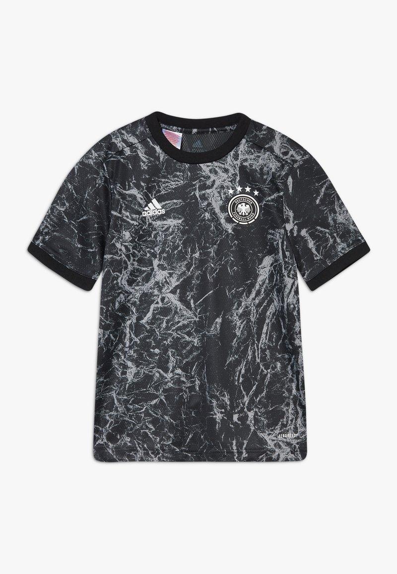 adidas Performance - DFB DEUTSCHLAND PRESHI Y - Print T-shirt - black/grey heather