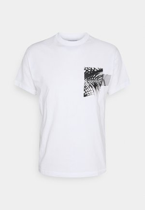 PALM BACK GRAPHIC TEE UNISEX - T-shirt con stampa - white
