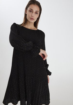 Day dress - black with dot