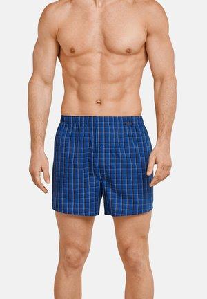 Schiesser Boxer 4er Pack - Boxer shorts - blau / blau kariert
