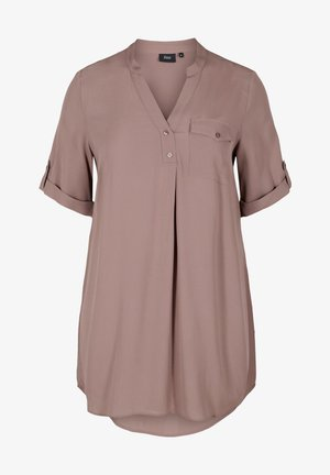 Blouse - deep taupe