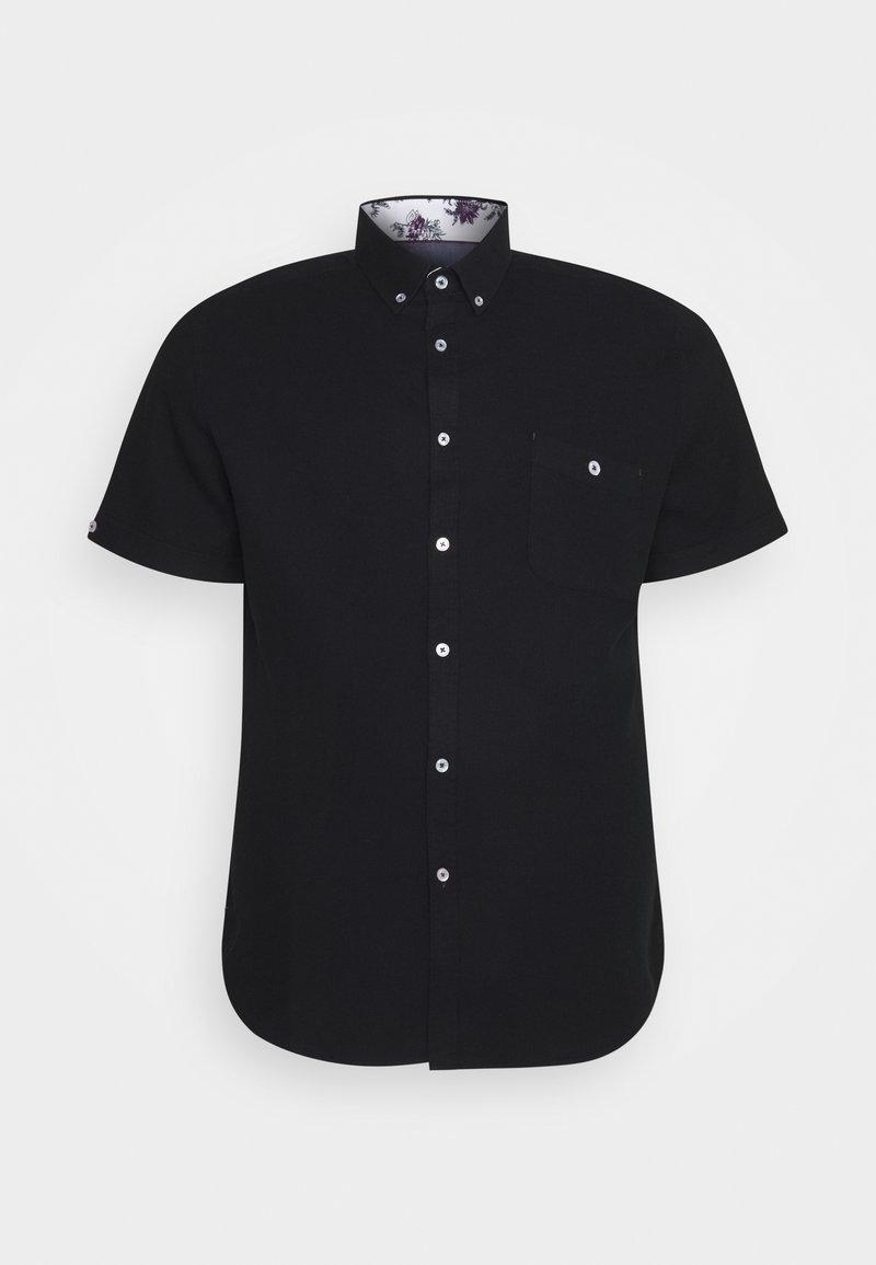 Johnny Bigg - RODNEY TEXTURED SHIRT - Shirt - black