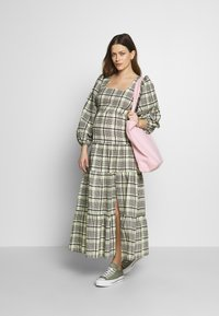Topshop Maternity - CHECK TIERED NECK - Maxi dress - green - 1