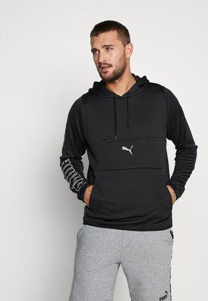 POWER HOODIE - Jersey con capucha - black