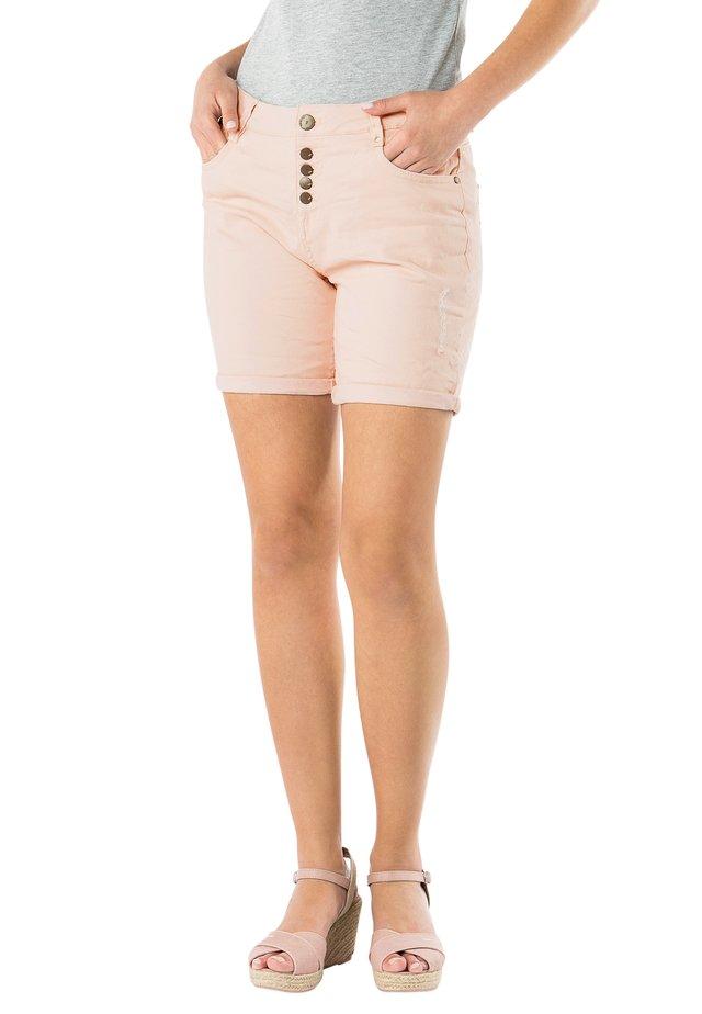 Denim shorts - light-rose