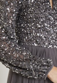 Maya Deluxe - BISHOP SLEEVE DELICATE SEQUIN  WITH KEYHOLE - Occasion wear - charcoal - 6