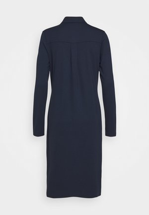 DRESS LONG SLEEVE COLLAR BUTTON PLACKET - Vestito di maglina - midnight blue