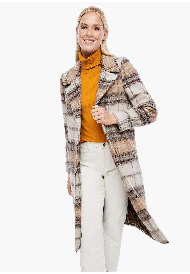 s.Oliver - MIT KAROMUSTER - Short coat - brown check