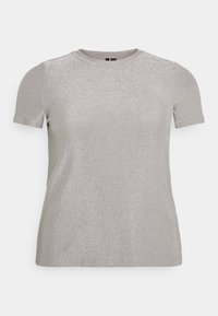 Vero Moda Curve - VMADALYN GLITTER - Basic T-shirt - silver sconce - 4