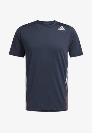FREELIFT 3-STRIPES T-SHIRT - T-shirts med print - blue