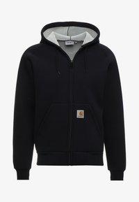 CAR-LUX HOODED - Zip-up hoodie - dark navy/grey