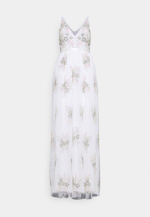EMBELLISHED BOW BACK DRESS - Occasion wear - white