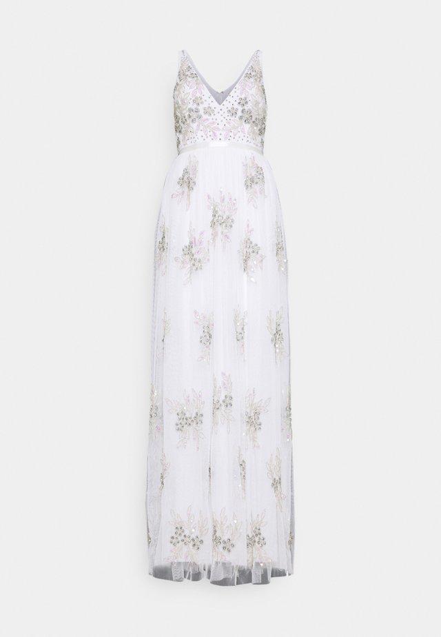 EMBELLISHED BOW BACK DRESS - Gallakjole - white
