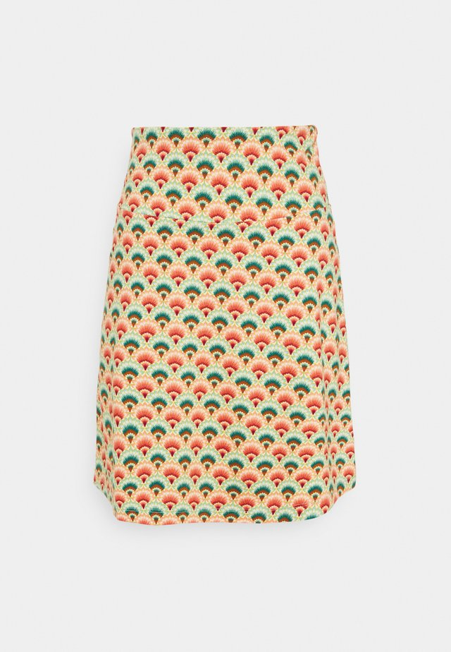 BORDER SKIRT CARMEL - Mini skirt - pearly dew