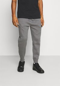 Nike Sportswear - CLUB PANT - Cargo trousers - charcoal heather/anthracite/white - 0
