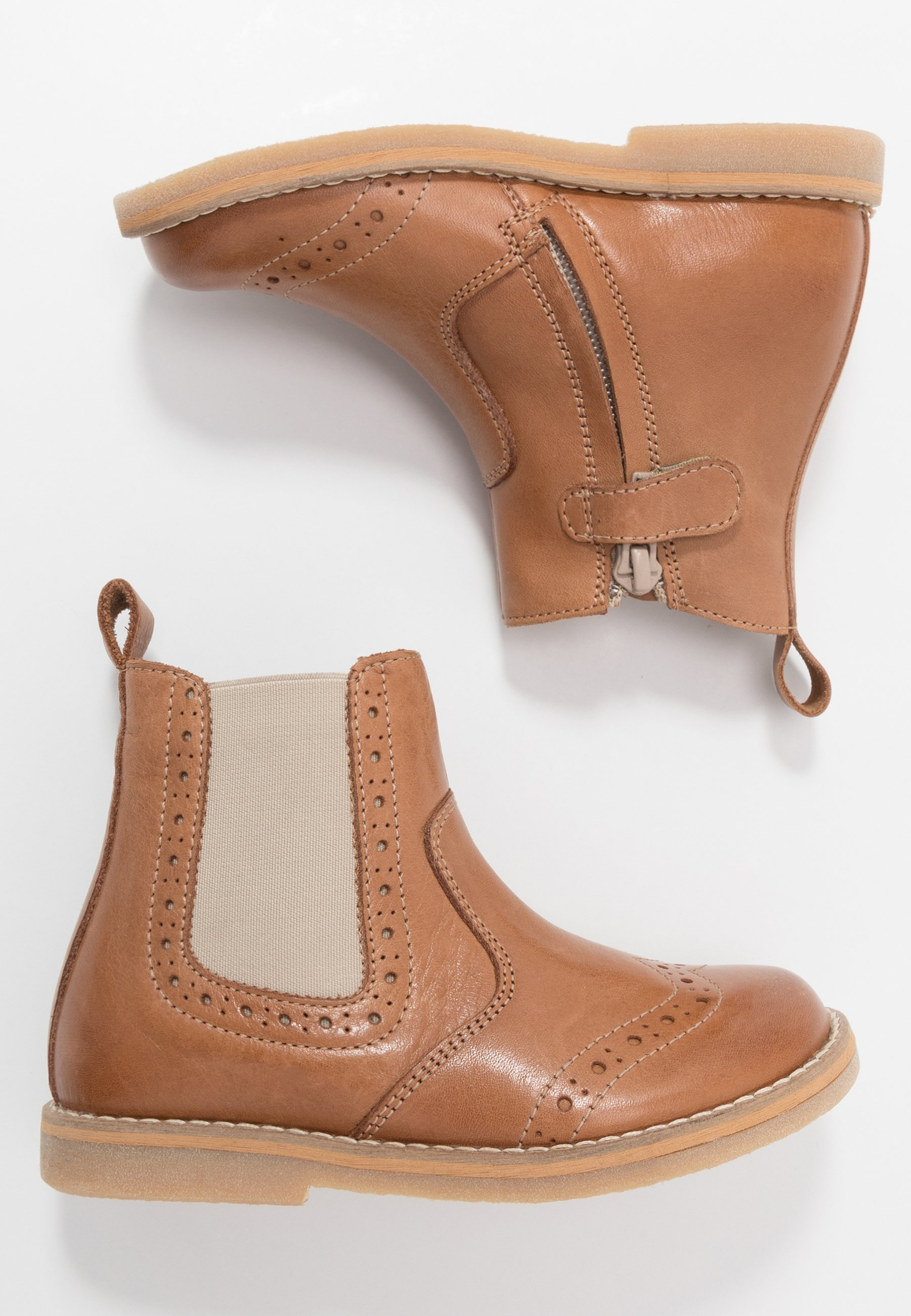 CHELYS BROGUE NARROW FIT Korte laarzen brown