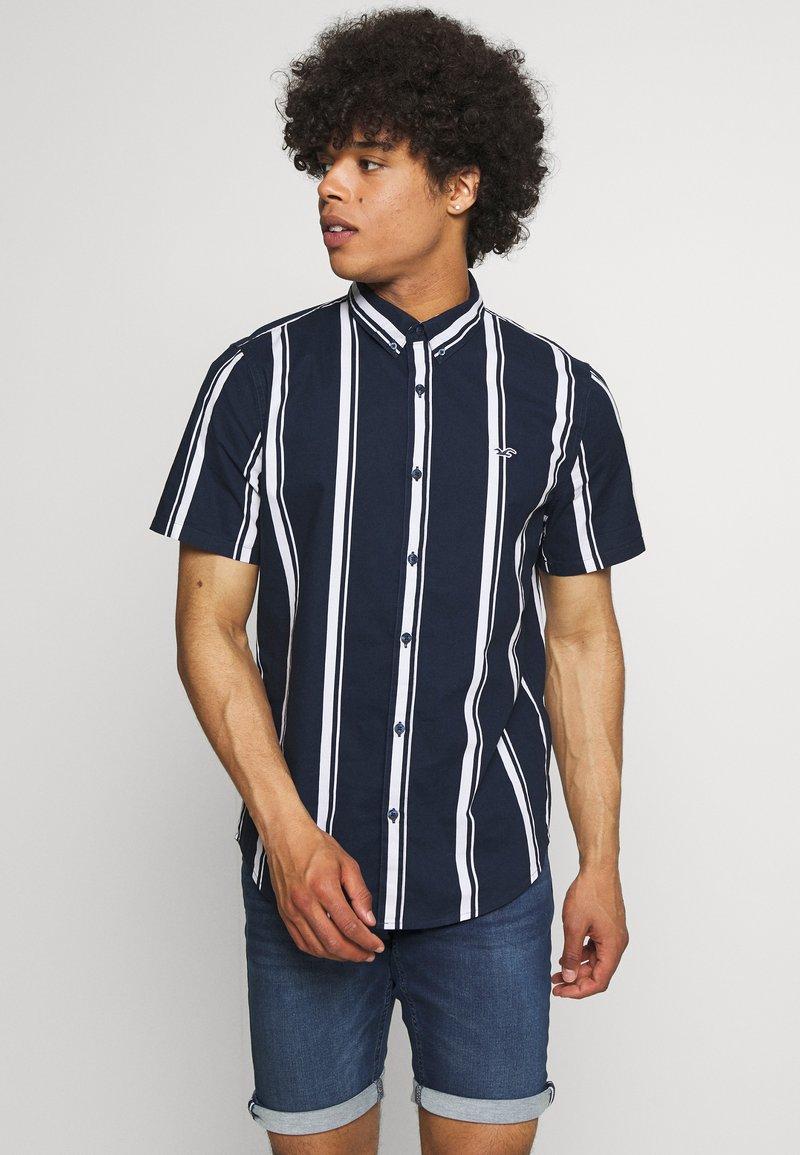 Hollister Co. - SLIM PATTERN - Shirt - navy