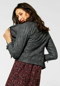 Street One - Faux leather jacket - grau - 0