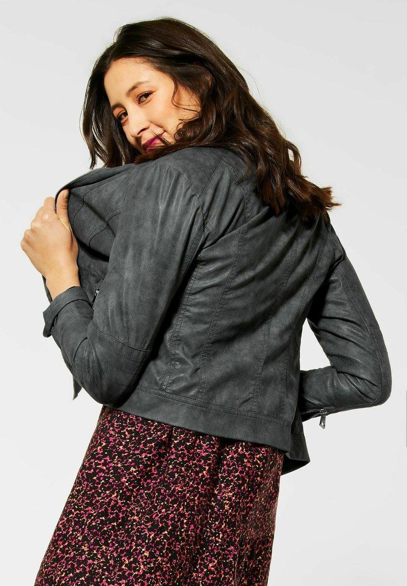 Street One - Faux leather jacket - grau