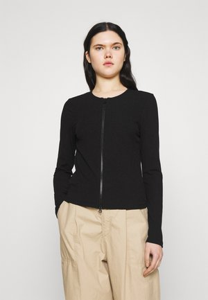 VMROSEY ZIPPER CARDIGAN - Cardigan - black