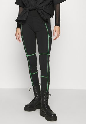 Leggings - Trousers - black/poison green