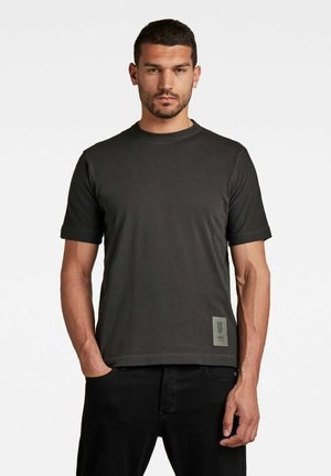 RAW CONSTRUCTION OD LOOSE - Print T-shirt - dk black gd