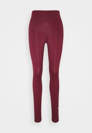 ONE - Tights - dark beetroot/white