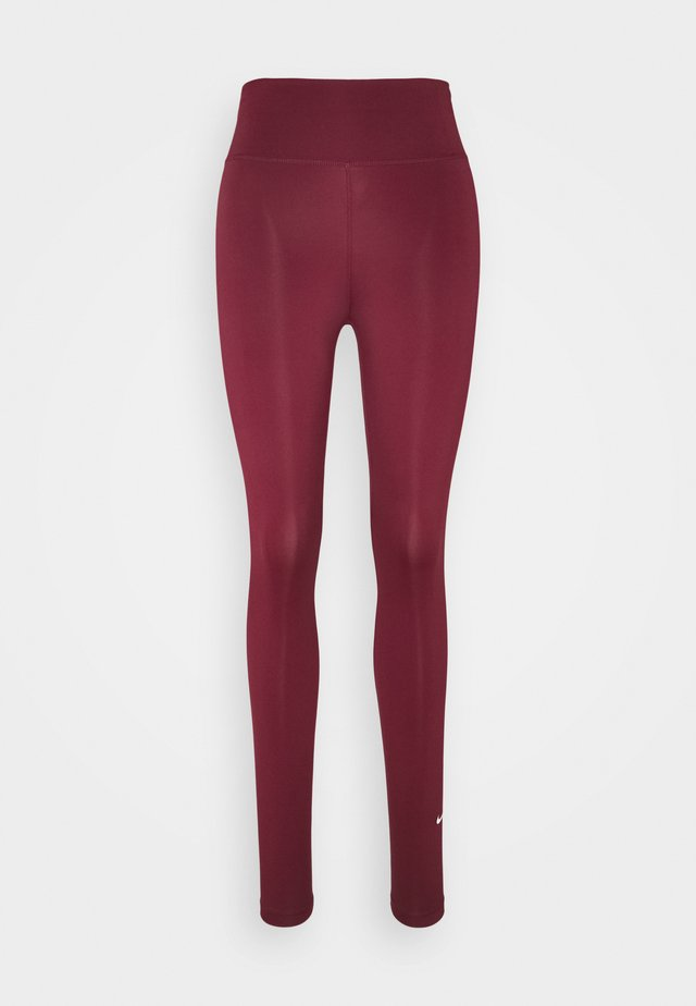 ONE - Leggings - dark beetroot/white