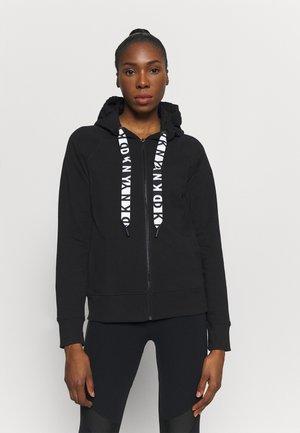 TWO TONE DC LOGO ZIP FRONT - Zip-up hoodie - black
