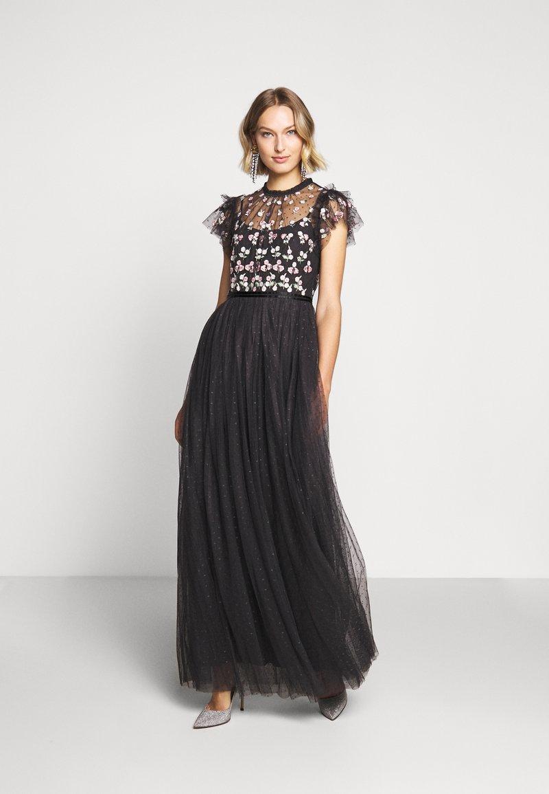 Needle & Thread - ROCOCO BODICE MAXI DRESS EXCLUSIVE - Společenské šaty - champagne/black