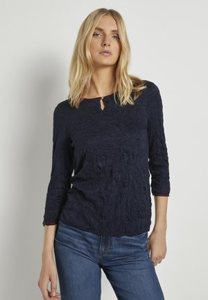 MIT ELASTISCHEM BUND - Long sleeved top - sky captain blue