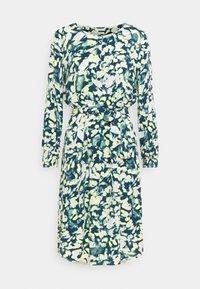 mine to five TOM TAILOR - DRESS PRINTED MIDI - Shirt dress - navy/mint - 0