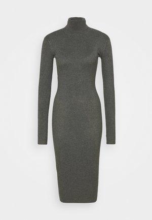 Pletené šaty - mottled dark grey