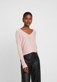 Anna Field - RELAXED V-NECK - Jumper - pink - 0