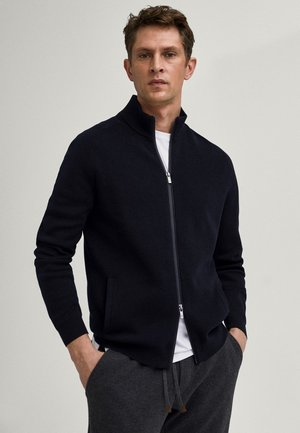 MIT REISSVERSCHLUSS  - Cardigan - blue-black denim