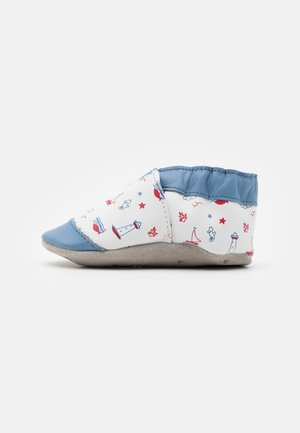 BEAUTIFUL BOAT - Chaussons pour bébé - blanc/bleu