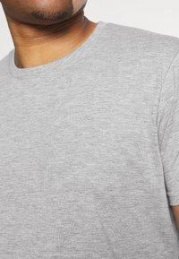 LTB - 3 PACK - Basic T-shirt - black/olive/grey melange - 8